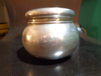 Antique 1907 Historic Industrialists DuPont Family Sterling Silver Tea Caddy