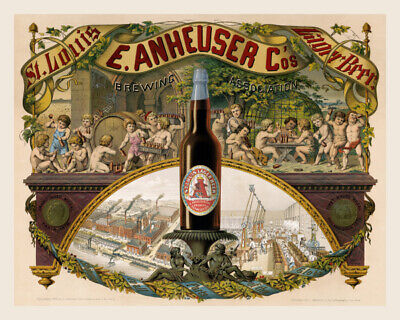 11x14 Print: E. Anheuser Co's Brewery, St. Louis Lager Beer, 1879