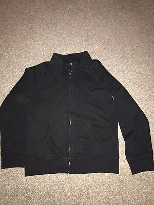 Excellent Condition Black Zip Up Jacket Age 8-9