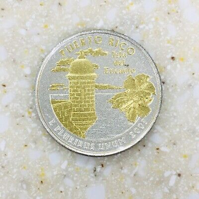 2009 Gold & Silver Highlighted State/Territory Quarter - Puerto Rico