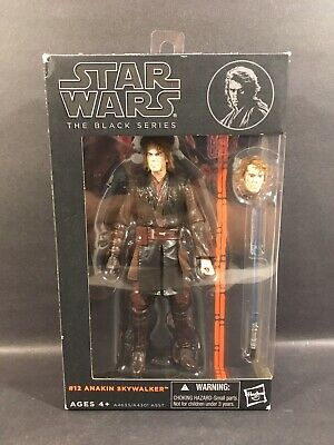 "2013 Star Wars Wave 2 Black Series Anakin Skywalker 6"" Figure #12 Used Open"