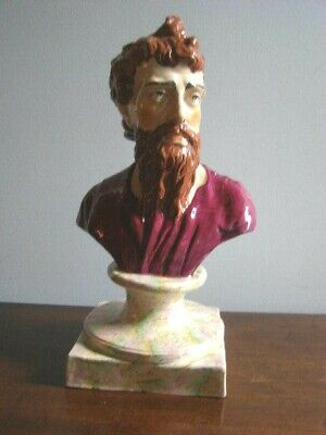 19C Large Staffordshire Pearlware Bust of Plato