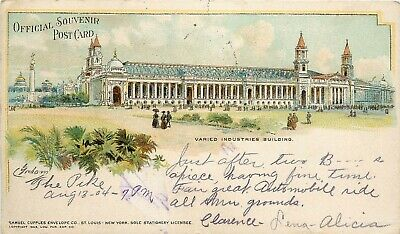 1904 St. Louis Worlds Fair Exposition Varied Industries Building, Cupples Posted