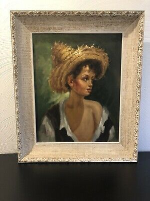 Exquisite Vintage Oil Painting Of Boy, Signed And Beautifully Framed