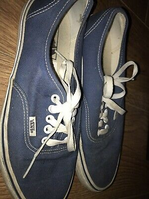 Mens Vans off the wall navy blue Trainers plimsolls Size USA 8 Worn Once