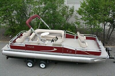 Wow--New 24 ft pontoon boat 60 hp and dual bunk trailer