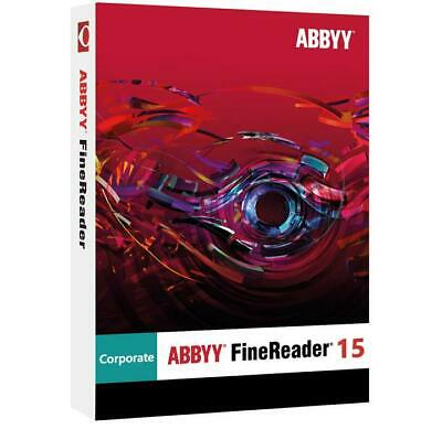 ABBYY FineReader Corporate 15✔️Lifetime Full activation