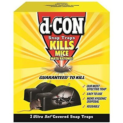 D-CON Reusable Ultra Set Covered Mouse Snap Trap, 2 Traps Health &amp Personal