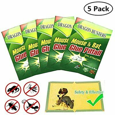 5 Pack Large Size Mouse Glue Trap, Sticky Super Hold Board Traps For Mice Rats X