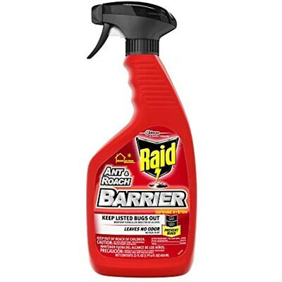 Raid Ant &amp Roach Barrier Spray, Killer For Listed Bugs, Insect, Spider, For 1