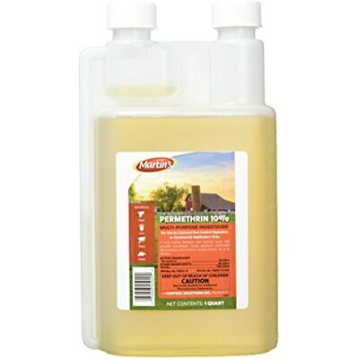 Martin's Permethrin 10% Multi-Purpose Insecticide, 32oz (1 Quart) Pet Flea And