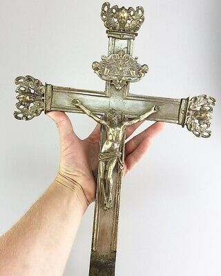 Silvered bronze processional cross. Northern Italy, early 17th century. Devotion