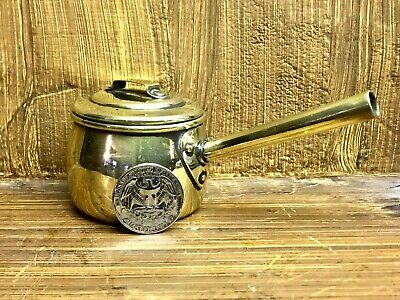 Superp Antique Miniature Brass Cooking Pot with Lid 2 Inch Travellers Sample ?