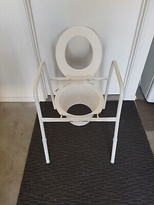 Over Toilet Frame with Adjustable Height