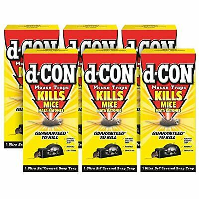 D-CON Reusable Ultra Set Covered Mouse Snap Trap, 6 Traps (6 Packs X 1 Trap)