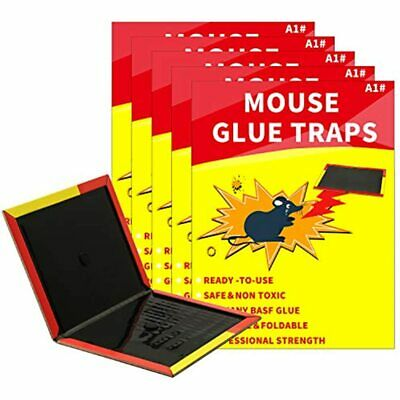Mouse Glue Traps 5 Packs, Board Suitable For Indoor And Outdoor, Strong Extra