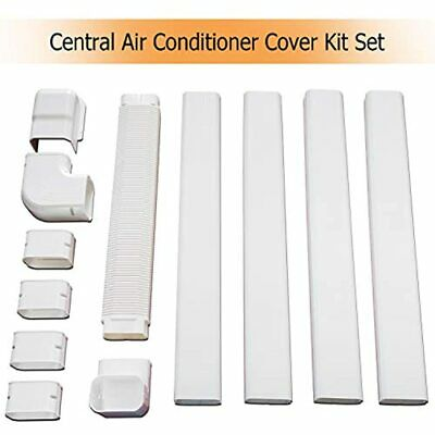 Air Conditioner Decorative PVC Line Set Cover Kit, Durable Conditioning Tubing 6
