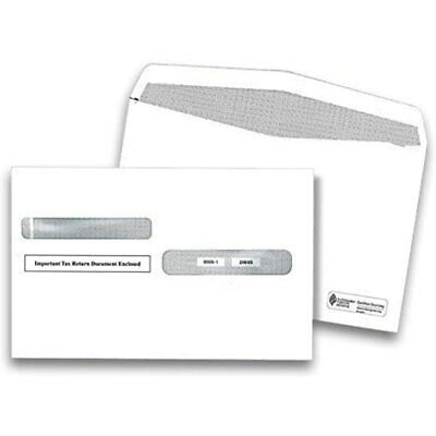 W2 Tax Envelopes, For 4-Up Style W-2 Forms 25 Pack Security Double Window 2019