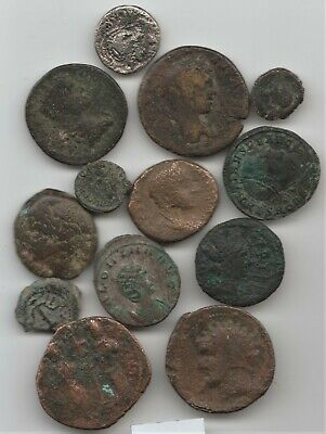 #1 Very Interesting Lot of 13 Ancient Coins ??? U I D NO RESERVE