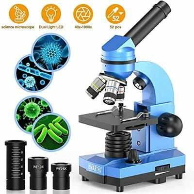 Microscope For Kids Beginners Children Student, 40X- 1000X Compound Microscopes