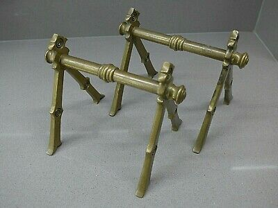 Antique Aesthetic Brass Fire Iron Rests/Fire Dogs/Andirons