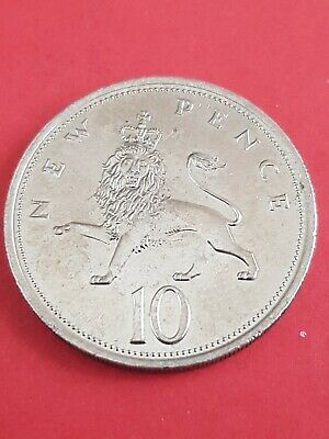 1976 -Old Style 10p Ten Pence English decimal coin (Large) - (443) nice coin