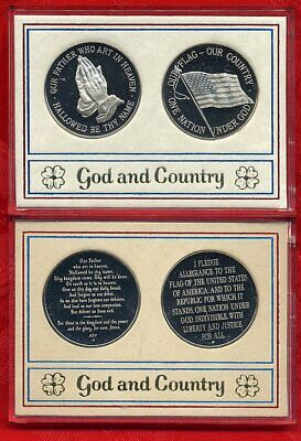 God And Country Medals – Franklin Mint – Nickel Silver