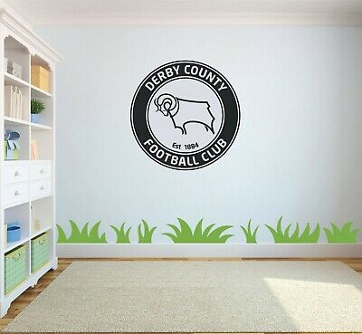 Derby County Football Club DCFC Rams Car Window Wall Decal BUY 2 GET 1 FREE