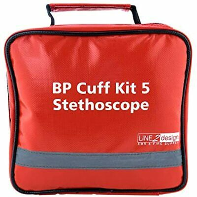 Manual BP Cuff Kit 5 Infant Child Adult Large &amp Thigh - EMS Deluxe Aneroid +