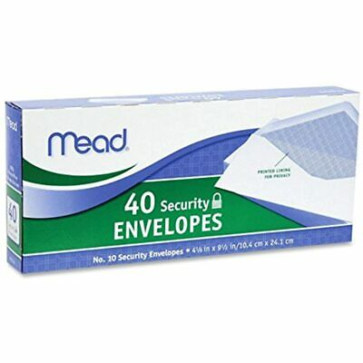 10 Security Envelopes, 40 Count (75214) Pack Of 12 480 Office Products FREE