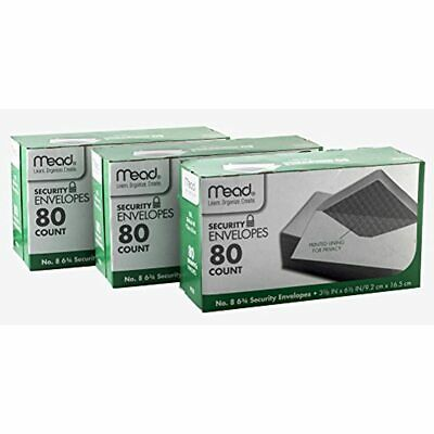 8 6 3/4 Security Envelopes-80 Ct, Pk (75212) Office Products FREE SHIPPING