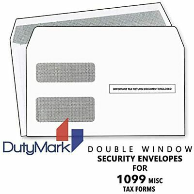 1099 MISC Tax Envelopes, Double-Window Security Envelope For Income And 1099-R 5