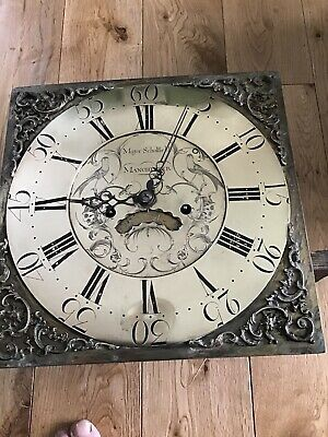 longcase grandfather clock movements ByMajor Scholfield Of Manchester Circa 1770