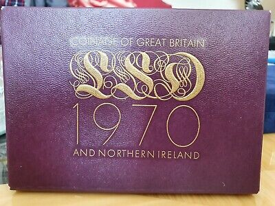 ROYAL MINT 1970 Coinage Of Great Britain & Northern Ireland Proof Coin Set (2)