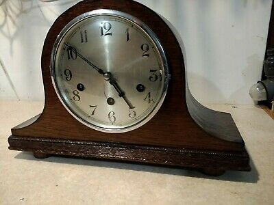 Old Chiming Mantle clock with Westminster chimes sold for repair or parts