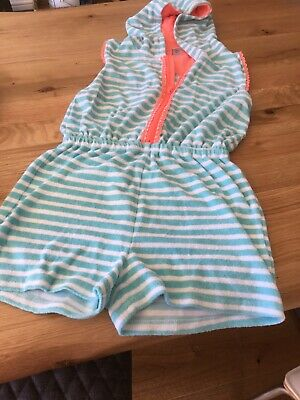 TU Sainsburys girls 10 years Towelling Playsuit Beach cover up