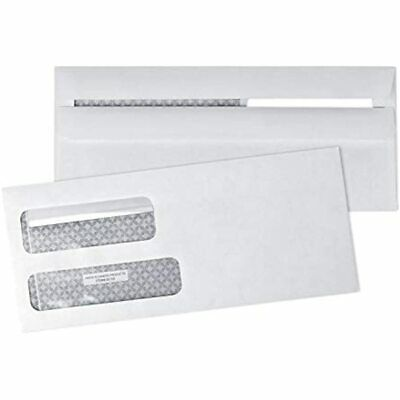 5009 FLIP &amp Seal Double Window Security Business Envelopes -for Invoices, X