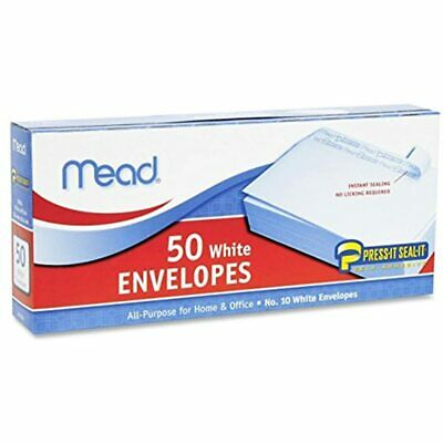 2 Pack Of Press-It Seal-It 10 White Envelopes, 50 Count (75024) 100 Office FREE