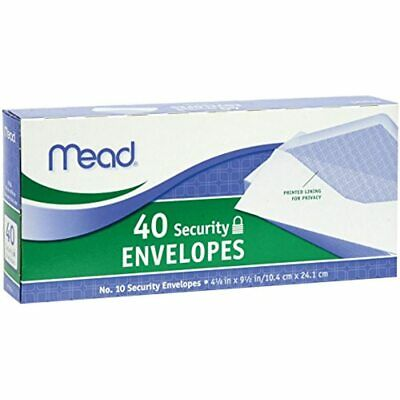 10 Security Envelopes, 40 Count (75214) Business Office Products FREE SHIPPING