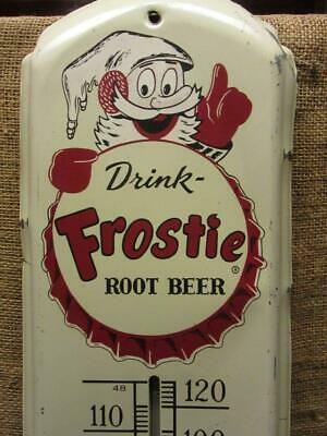 HUGE 1950s Vintage Frostie Root Beer Thermometer Sign > Antique 9925