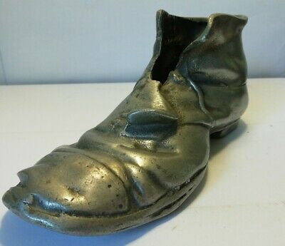 Vintage Metal Cast Iron Shoe Display Boot Advertising By Josiah Guest And Sons