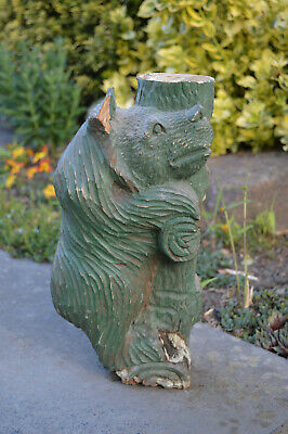 Large antique hand carved Black Forest bear circa.1900 carving no reserve price