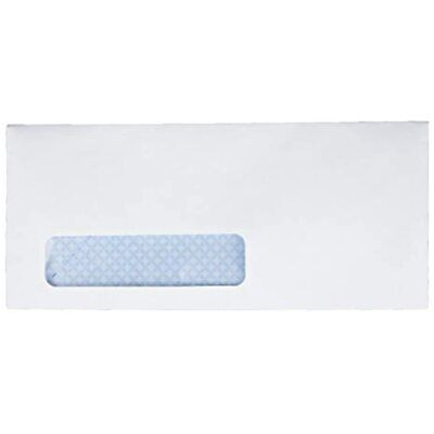 No. 10 Window Security Envelopes (21412), White Forms Office Products FREE