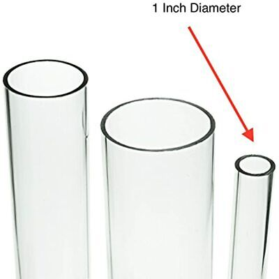 Source One Deluxe Clear Acrylic Tube 1 Inches Thick (12 Inch, Wide) Office FREE
