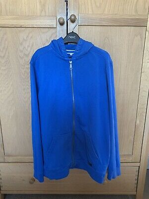 Boys Marks And Spencer Blue Zipped Hoodie Age 13-14 Years