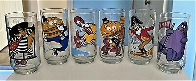 1977 Mcdonalds Collectors Series Drinking Glasses...complete Set Of (6)