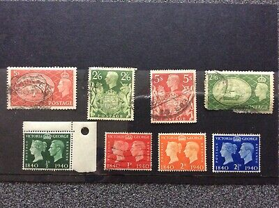 GB Collection of Pre Decimal George VI stamps 2/6, 5/- etc