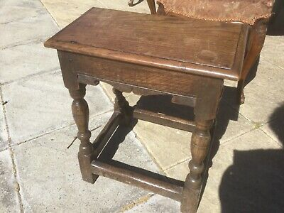 Early Oak Joint or Coffin Stool