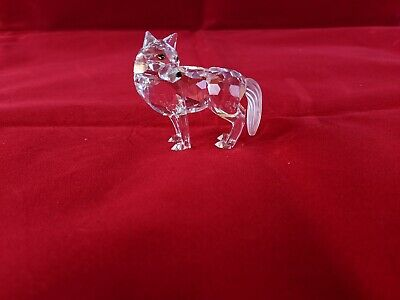 Swarovski RETIRED Crystal Wolf 2008 MIB 207549