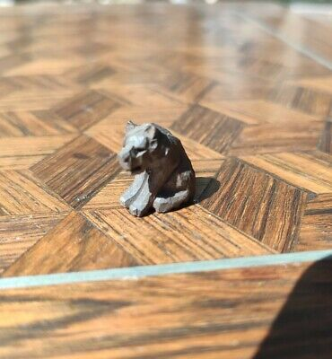 Antique black forest miniature carved wooden bear. Dolls house